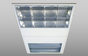 Healthcare luminaires with 3 optical systems